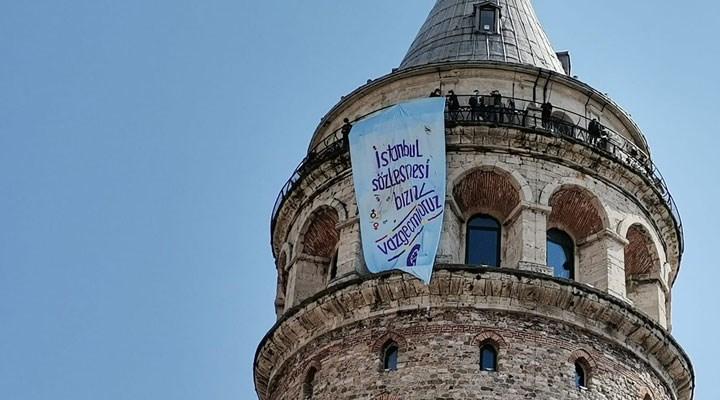 İstanbul'un dört bir yanı 'İstanbul Sözleşmesi' pankartlarıyla donatıldı!