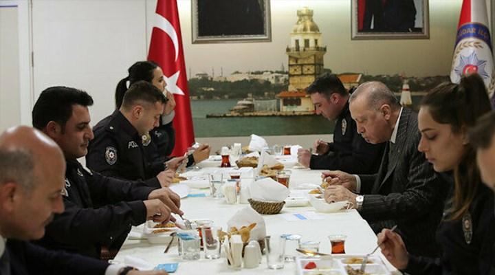 Erdoğan ve Soylu, İçişleri'nin genelgesine uymadı: Çengelköy Polis Merkezi'nde iftar