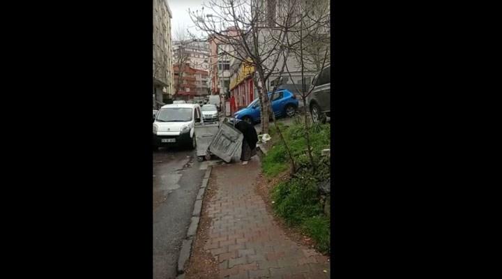 İnkar, yoksulluğu örtmüyor: Şimdi de İstanbul'da yaşlı biryurttaşçöpte yemek ararken görüntülendi