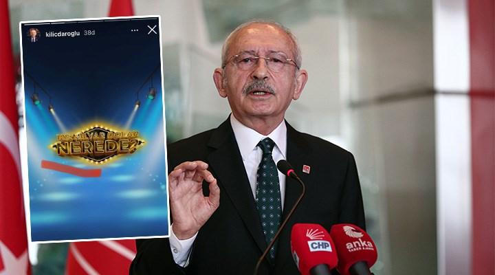 """Kılıçdaroğlu'ndan Instagram'da """"128 milyar dolar nerede?"""" yarışması"""