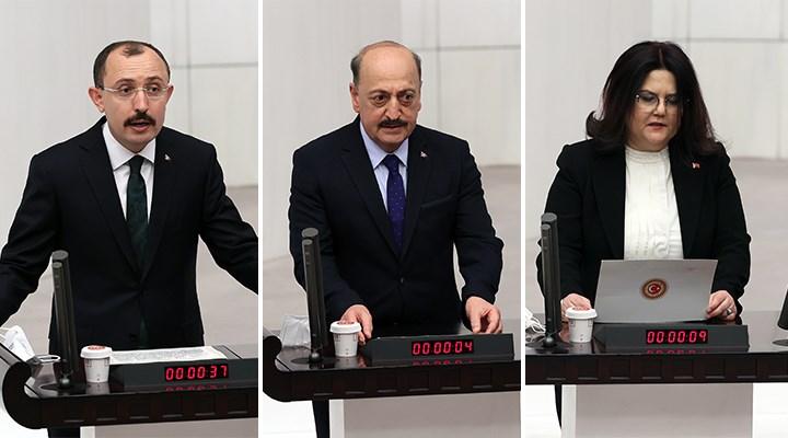 Erdoğan'ın kararıyla atanan üç yeni bakan Meclis'te yemin etti