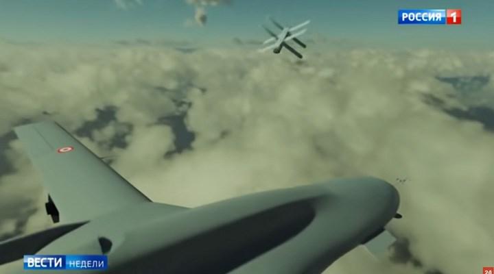 Rus devlet televizyonu, 'hava mayını' tanıtımında Türk SİHA'larını hedef olarak gösterdi