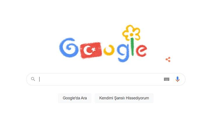 Google'dan 23 Nisan'a özel doodle