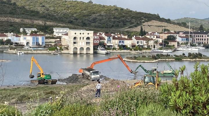 """""""Alaçatı Sulak Alanı'nda devam eden inşaatlar durdurulsun"""""""