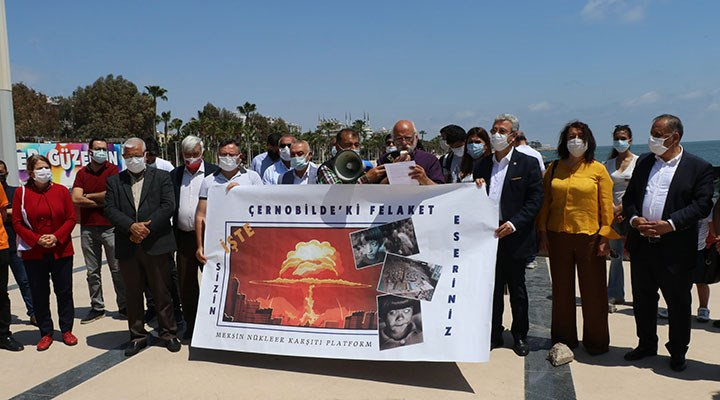 Çernobil faciasında ölenler Mersin'de anıldı