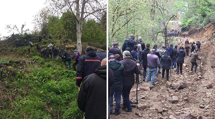 İşkencidere'de doğa talanına karşı direniş devam ediyor: Yolları kesildi, patikadan ulaştılar