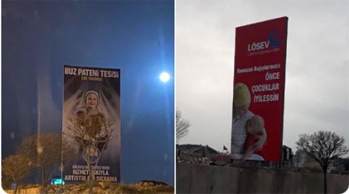 MHP'li belediye, lösemili çocuklar için asılan afişleri kaldırttı