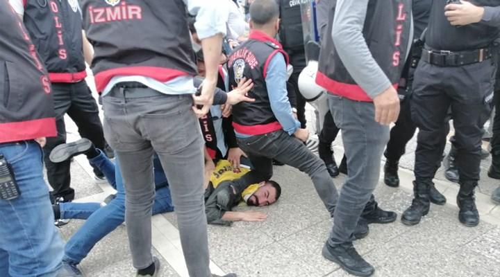 İzmir'de 1 Mayıs açıklamasına müdahale: Gözaltı, George Floyd'u hatırlattı!
