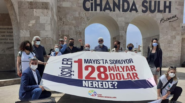 '128 milyar dolar nerede?' pankartı taşıyanlara para cezası!