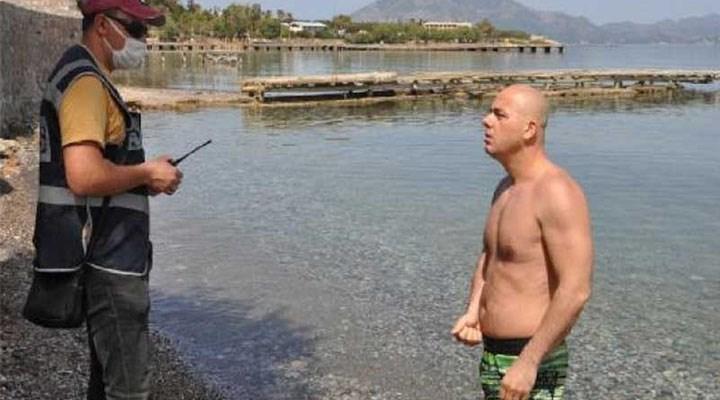 Muğla'da denize giren yurttaşlara kısıtlamayı ihlalden ceza kesildi