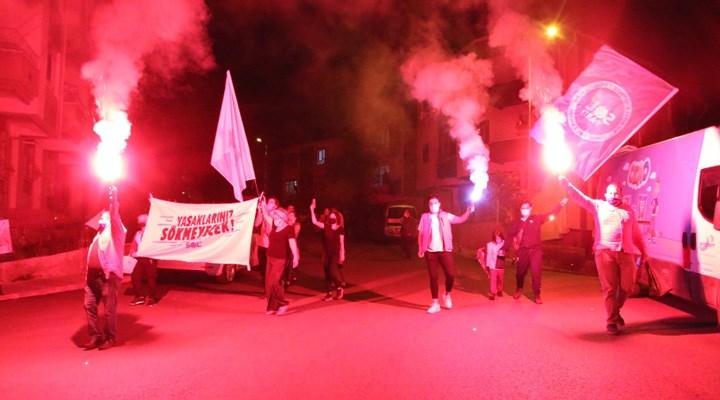 SOL Partililerden 1 Mayıs'ta meşalelerle gece yürüyüşü