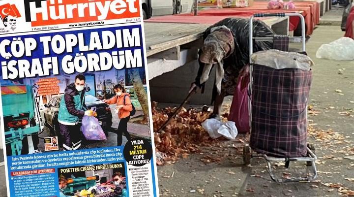 Bir Hürriyet haberi: 'İsrafta zenginle fakirin birbirinden farkı yok'muş