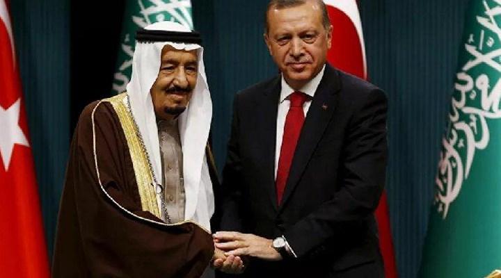 Erdoğan, Suudi Arabistan Kralı Selman bin Abdülaziz ile görüştü