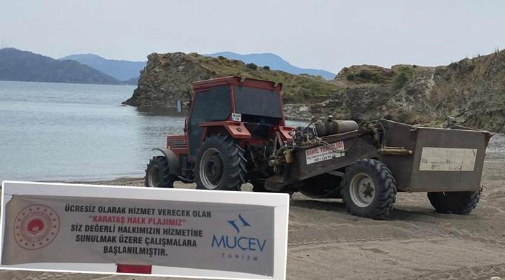 Karataş Plajı'ndaki MUÇEV çalışması, halkı endişelendiriyor