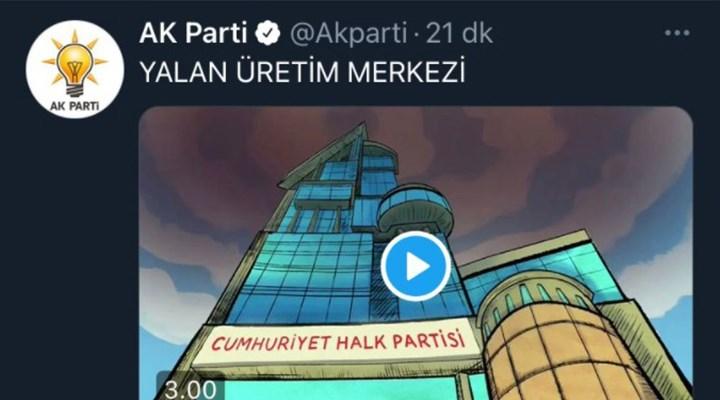 AKP, 'Yalan Üretim Merkezi' animasyonunu sildi