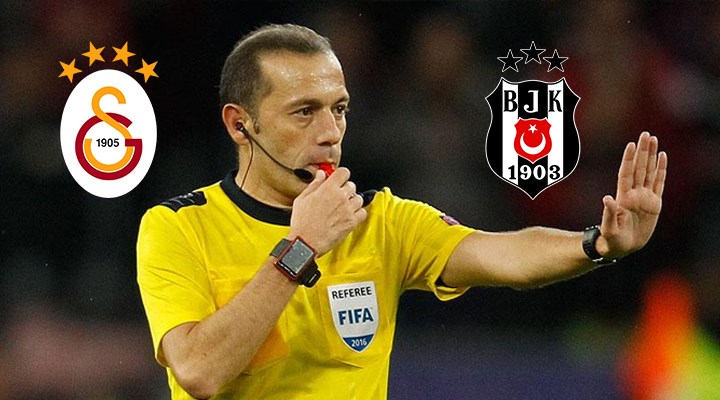 Galatasaray-Beşiktaş derbisinin hakemi Cüneyt Çakır oldu