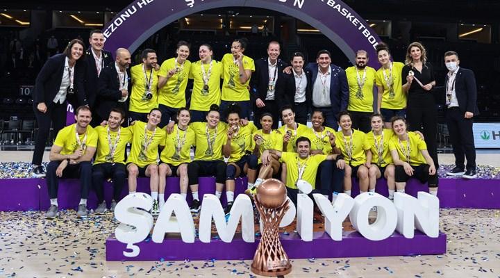 Fenerbahçe, Kadınlar Basketbol Ligi'nde namağlup şampiyon oldu