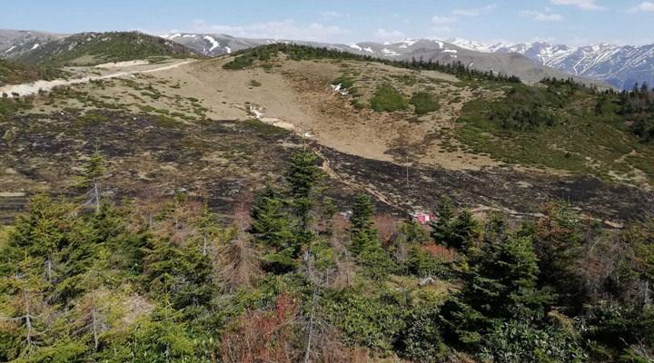 İkizdere'de üç dönüm fundalık alan yandı