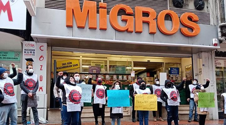 Migros işçileri direnişte kararlı