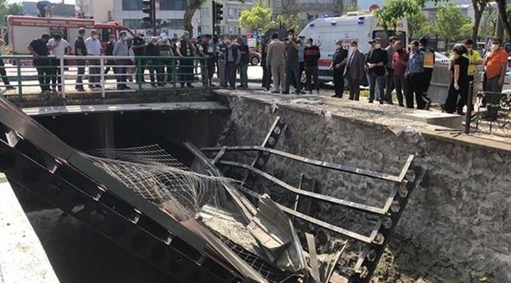 Bursa'da anıt inşaatı çöktü: 3 işçi yaralandı