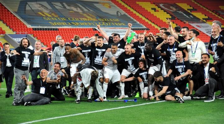 Şampiyon Beşiktaş'tan kupa töreni açıklaması