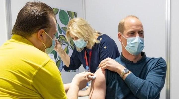 Prens William, Covid-19 aşısının ilk dozunu oldu
