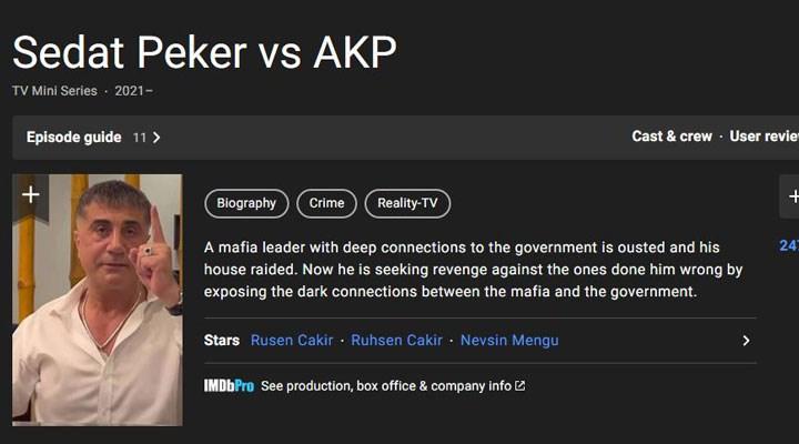 Sedat Peker'in videoları IMDb'ye eklendi