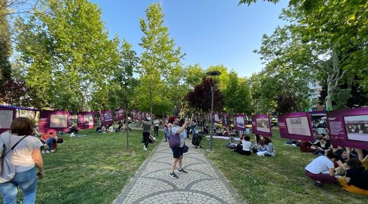 Kadınlar 'Dayağa karşı Dayanışma Yürüyüşü'nün 34. yılında Yoğurtçu Parkı'nda