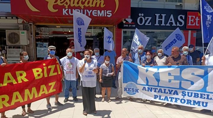 KESK Antalya Şubeler Platformu: Baskılara boyun eğmeyeceğiz