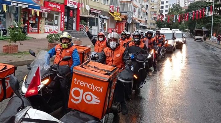 Trendyol için çalışan moto kuryeler: Ücretleri değil hız baskısını yok edin