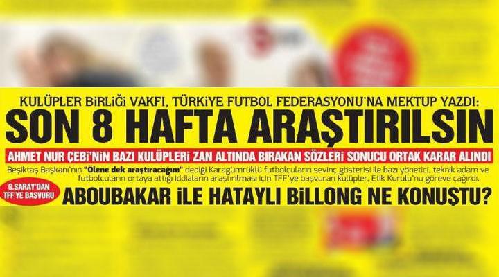 Beşiktaş'tan Hürriyet'teki habere sert tepki