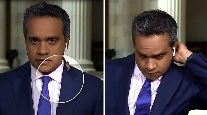 CNN muhabirinin böcek tepkisi viral oldu