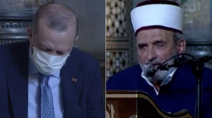 """Erdoğan'ın katıldığı programda imam, Atatürk'e lanet okudu: """"Zalim ve kafir"""""""