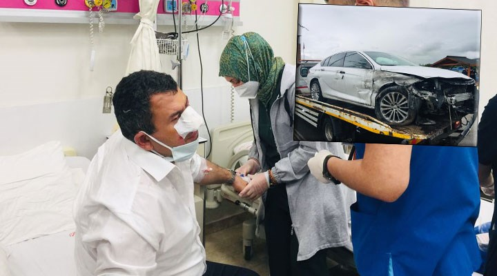 MHP'li vekillerin bulunduğu araç kaza yaptı: 2 milletvekili yaralandı