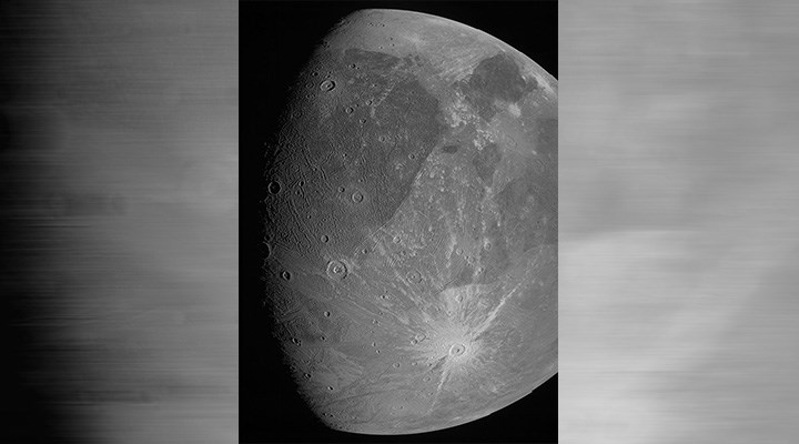 Juno, Jüpiter'in uydusu Ganymede'i görüntüledi: 20 yıl sonra ilk fotoğraf