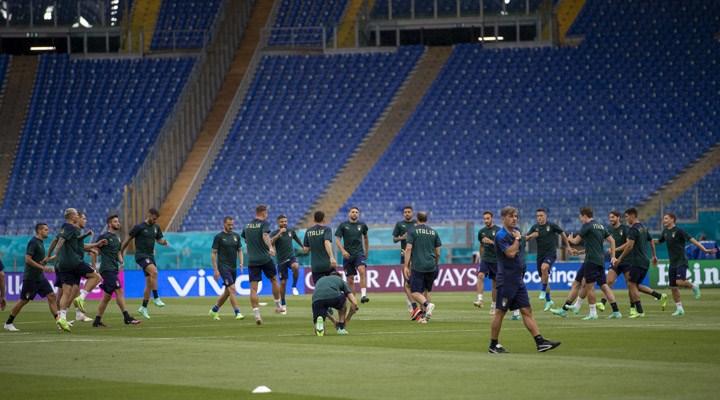 İtalya, Türkiye maçı öncesi son antrenmanını yaptı