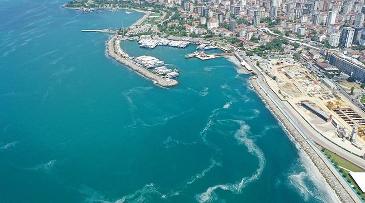 Marmara'daki müsilaj havadan görüntülendi