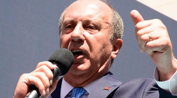 Muharrem İnce: Çatı aday önermek, Erdoğan'ın ekmeğine yağ sürmektir