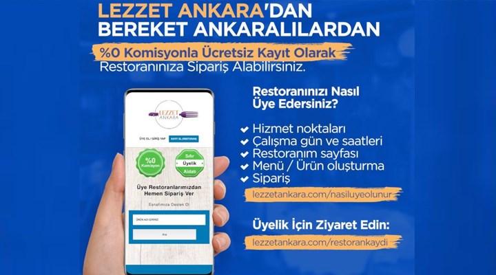Ankara Büyükşehir Belediyesi'nden kafe ve restoranlar için komisyonsuz 'Lezzet Ankara' uygulaması
