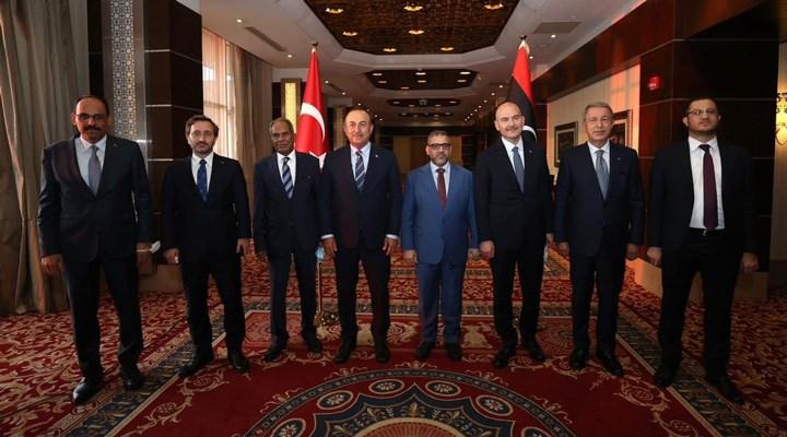 Erdoğan'ın talimatıyla Dışişleri, İçişleri, Savunma Bakanları ile MİT Başkanı, Genelkurmay Başkanı ve Saray yetkilileri Libya'ya gitti