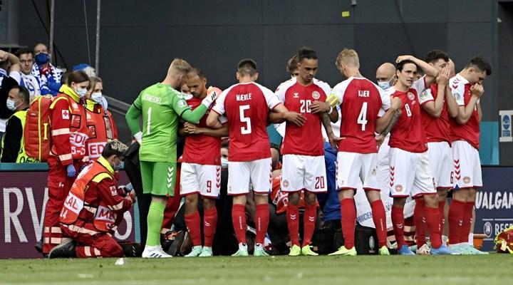 EURO 2020'de korkutan anlar: Eriksen kalp masajından sonra hayata döndü