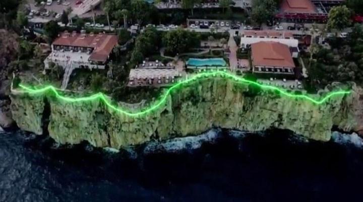 """Antalya'da """"Falez Işıklandırma Projesi'nin iptal edildiği açıklandı"""