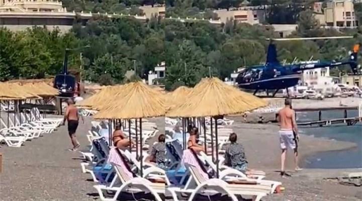 Plaja inen helikopterin sahibi: Jandarmaya haber vermiştik