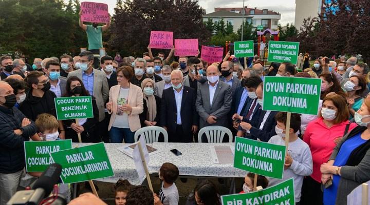 Kaftancıoğlu'ndan park ve deprem toplanma alanı için mücadele eden Çekmeköy halkına destek ziyareti