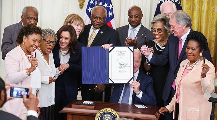 ABD'de köleliğin kaldırıldığı 19 Haziran tatil ilan edildi
