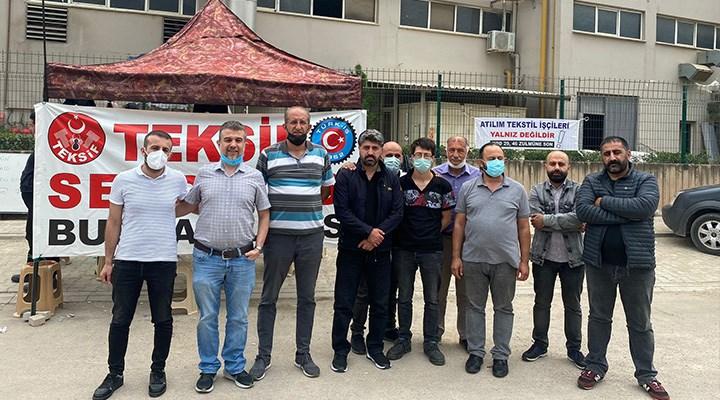 SOL Parti'den Atılım Tekstil direnişine ziyaret