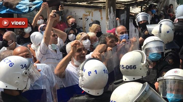 Tozkoparan halkı talana karşı ayakta: Polisten biber gazlı müdahale