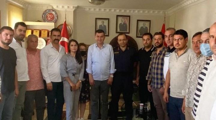 Jandarma Komutanı'ndan MHP ilçe teşkilatına ziyaret