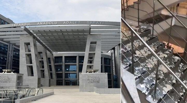 """Anadolu Adliyesi'ndeki bakımsızlık sosyal medyada: """"Merdiven kaplamaları üzerimize döküldü"""""""