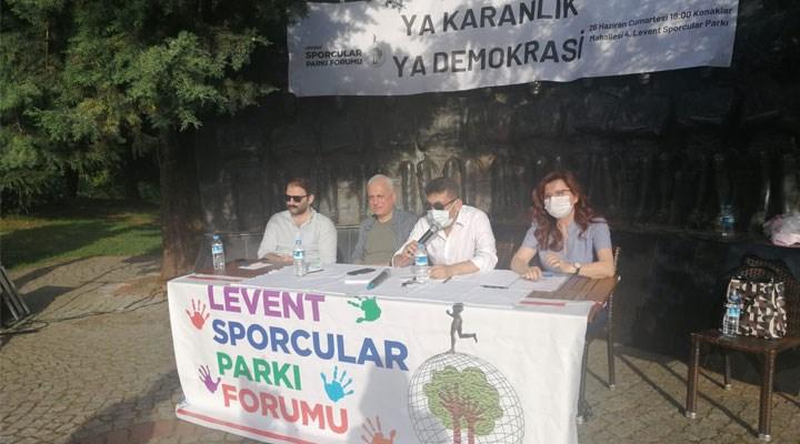 Sporcular Parkı Forumu: Ya karanlık ya demokrasi